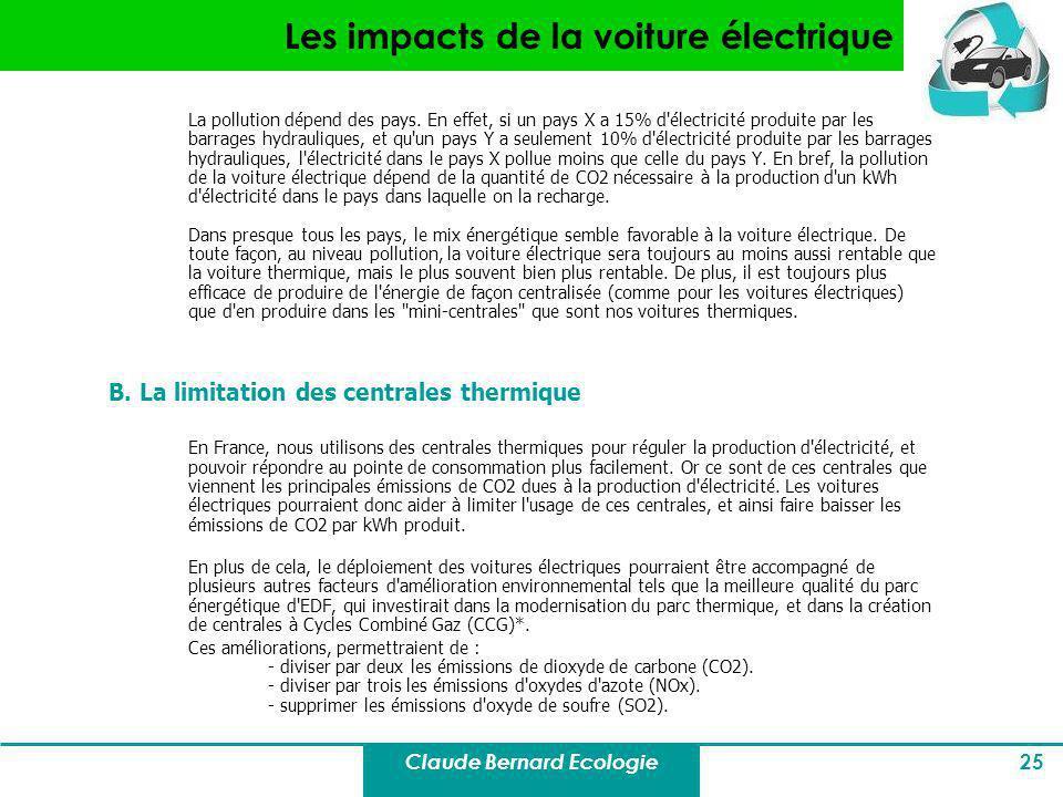 Les impacts de la voiture électrique