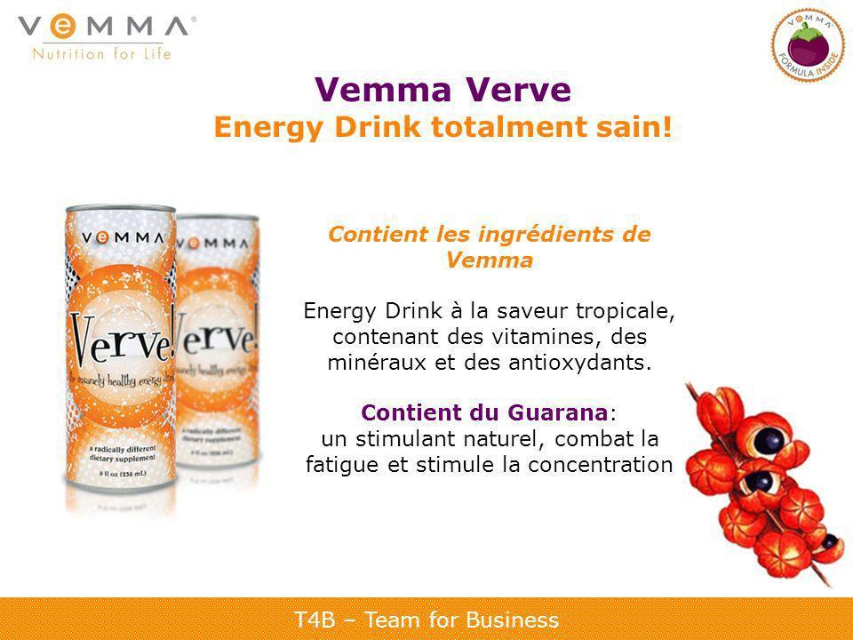 Energy Drink totalment sain! Contient les ingrédients de Vemma
