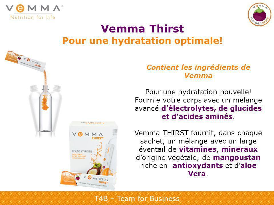 Pour une hydratation optimale! Contient les ingrédients de Vemma