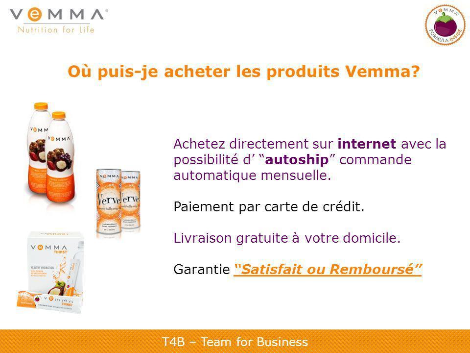 Où puis-je acheter les produits Vemma