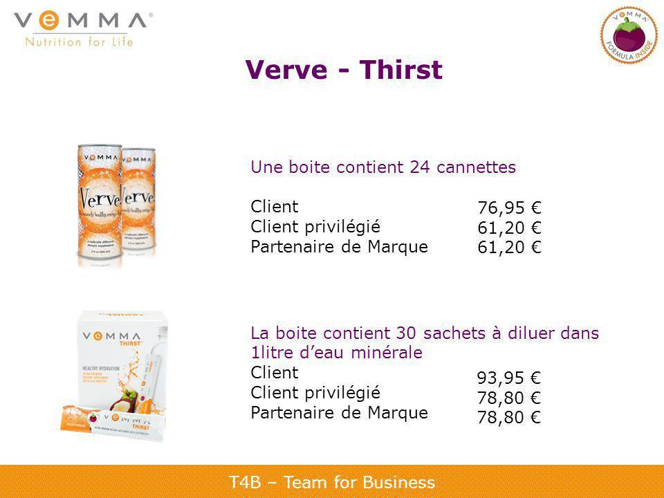 Verve - Thirst Une boite contient 24 cannettes Client