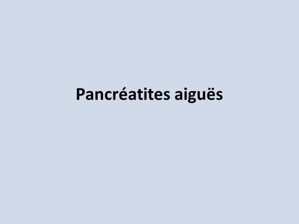 Pancréatites aiguës