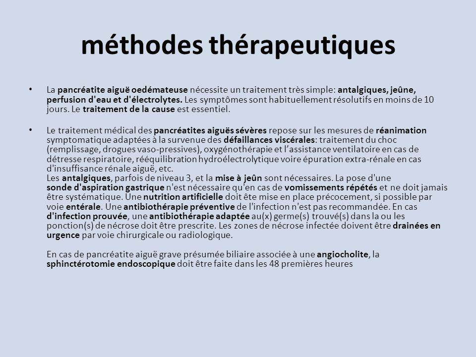 méthodes thérapeutiques