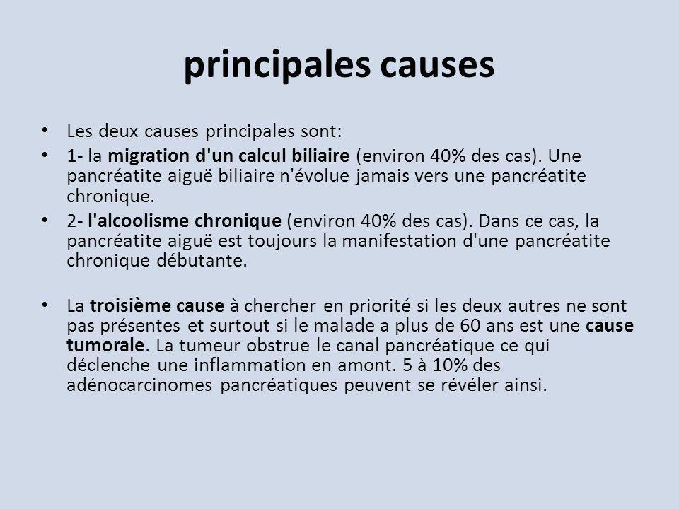 principales causes Les deux causes principales sont: