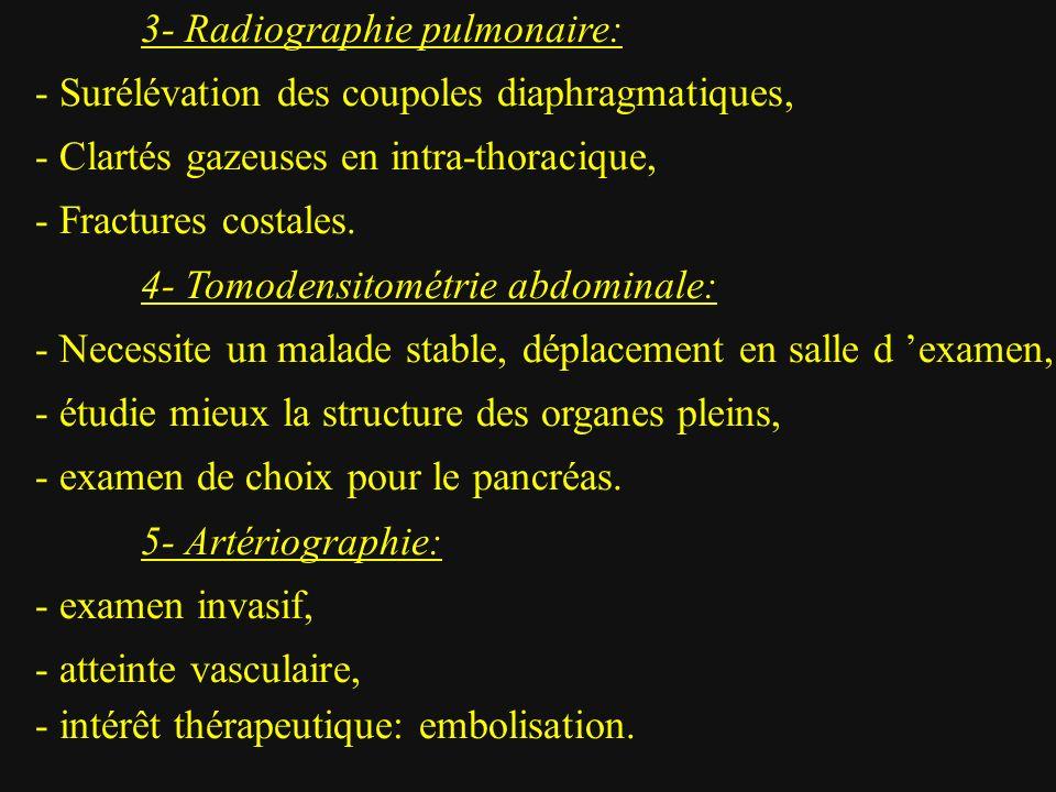3- Radiographie pulmonaire:
