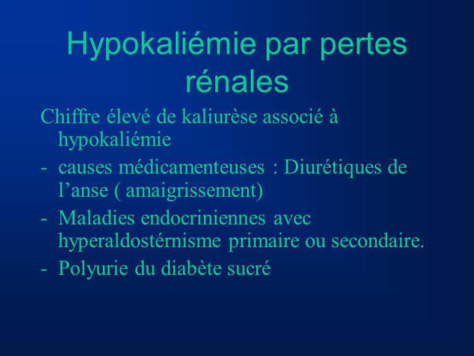Hypokaliémie par pertes rénales