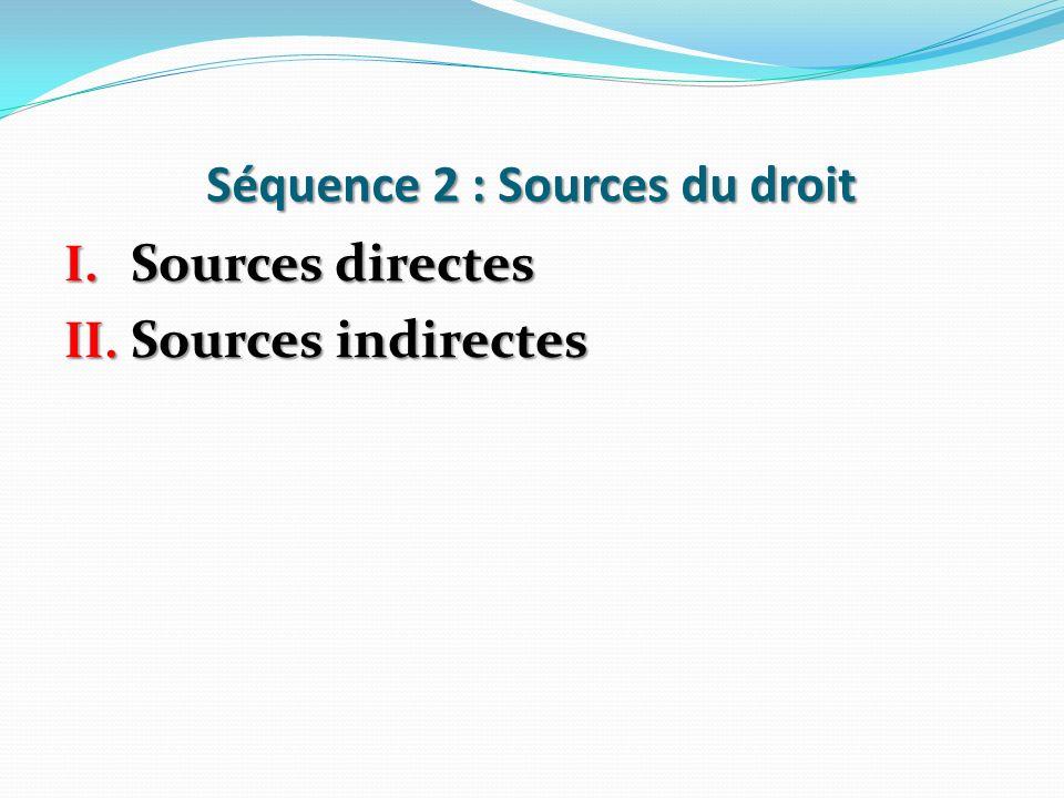 Séquence 2 : Sources du droit