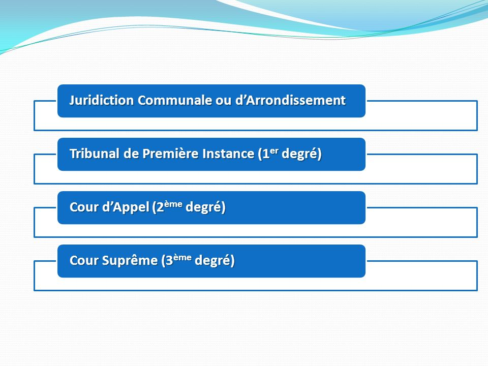 Juridiction Communale ou d'Arrondissement