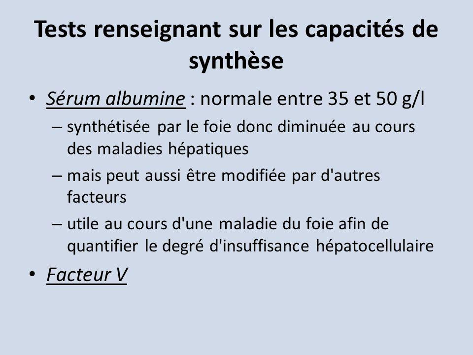 Tests renseignant sur les capacités de synthèse