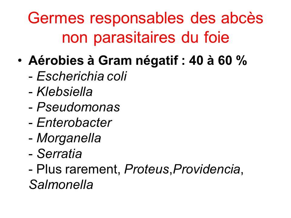 Germes responsables des abcès non parasitaires du foie