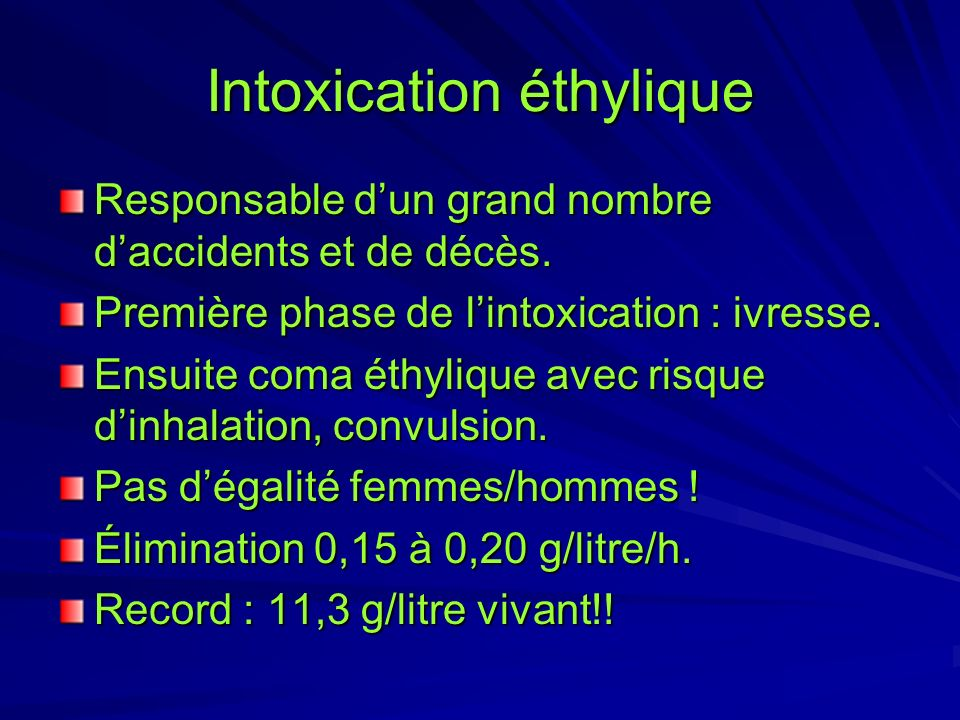 Intoxication éthylique