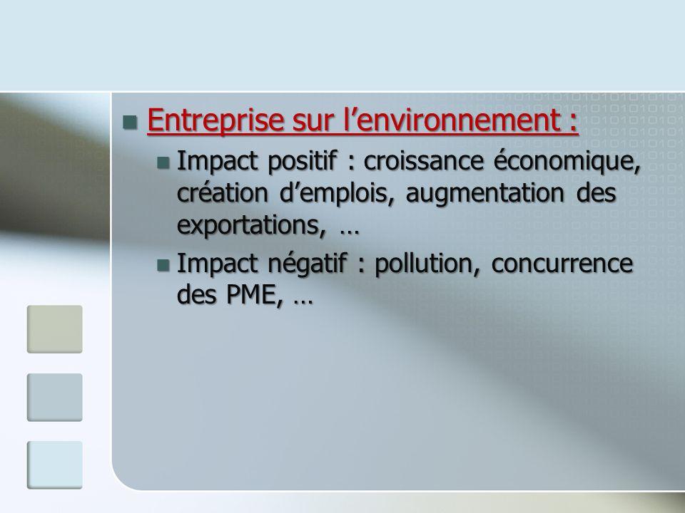 Entreprise sur l'environnement :