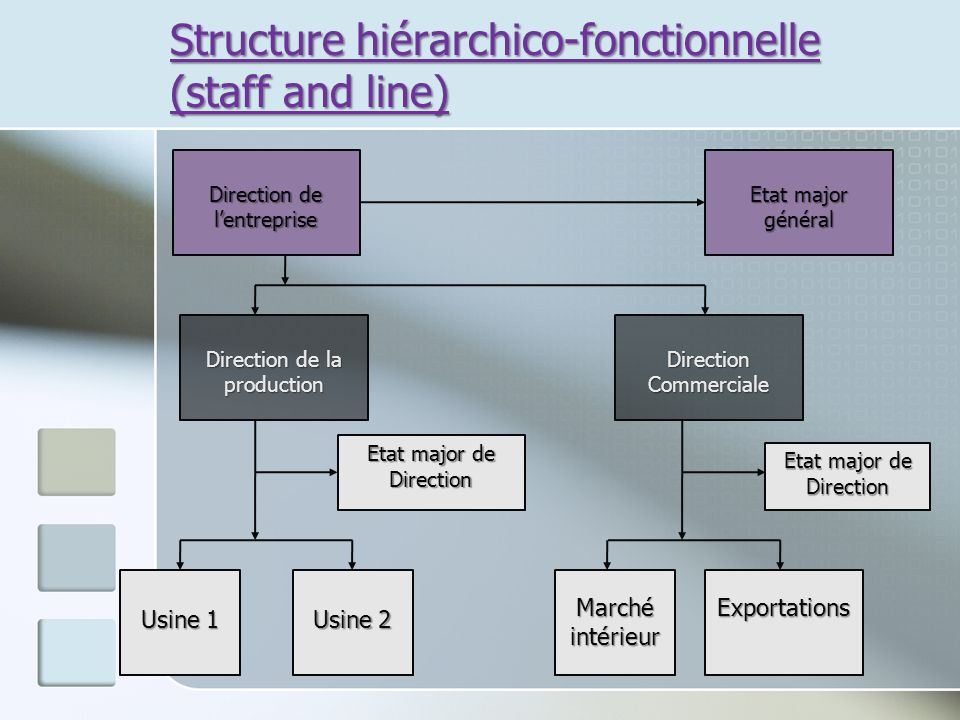 Structure hiérarchico-fonctionnelle (staff and line)