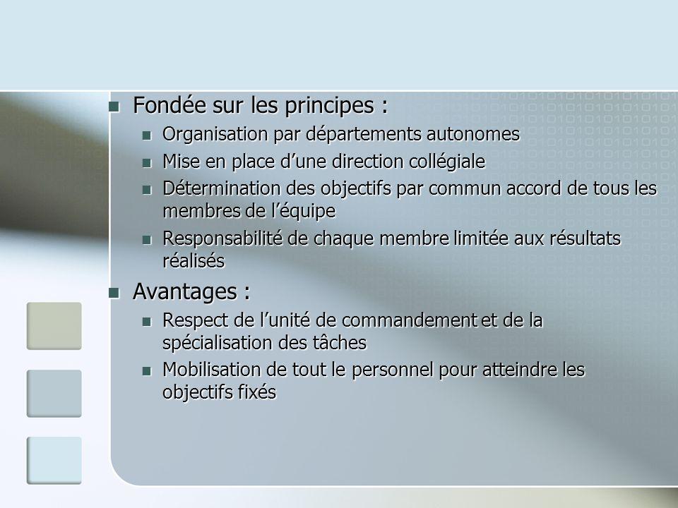 Fondée sur les principes :