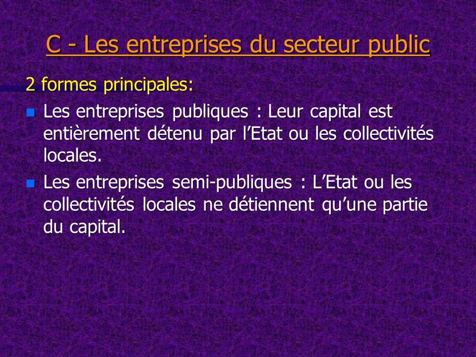 C - Les entreprises du secteur public