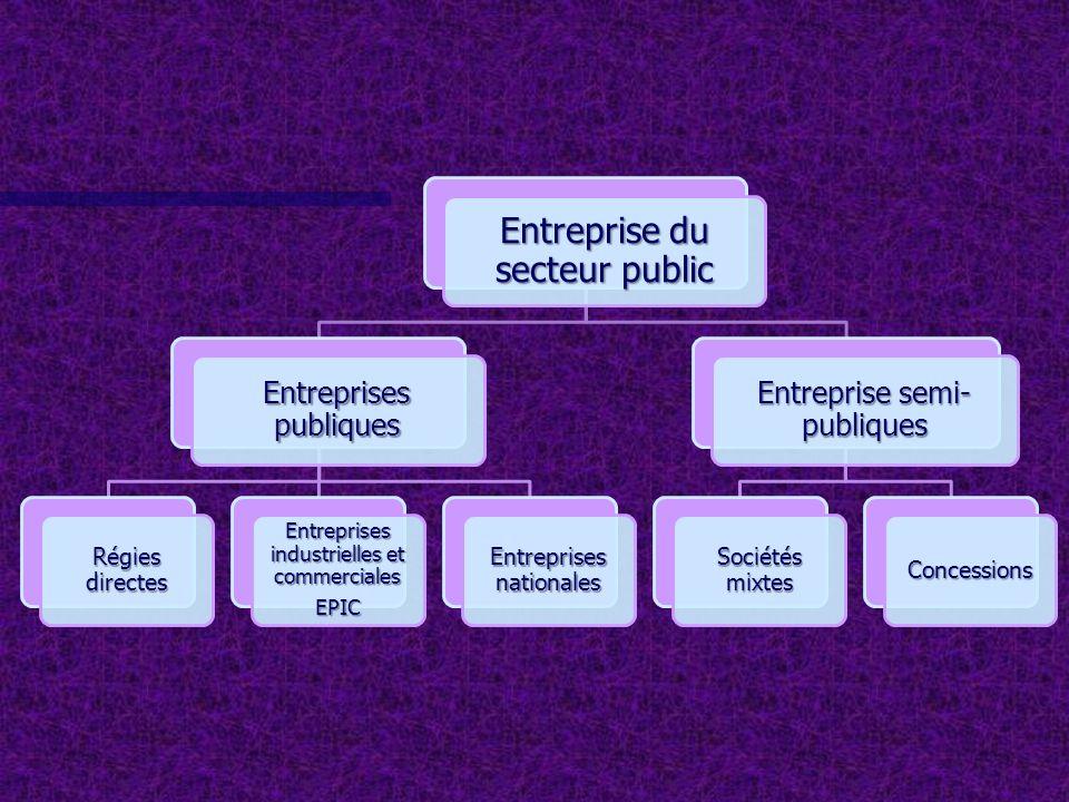 Entreprise du secteur public