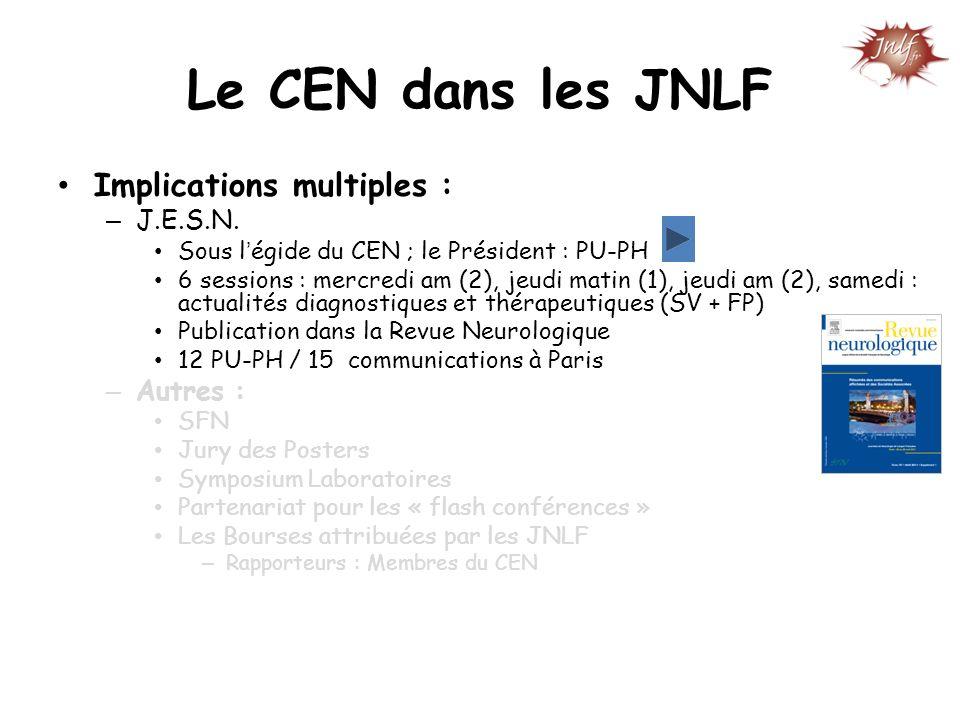 Le CEN dans les JNLF Implications multiples : J.E.S.N. Autres :