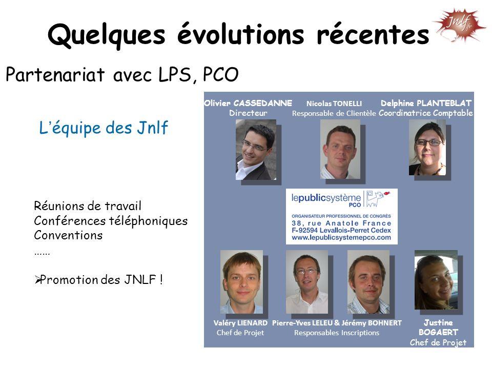 Quelques évolutions récentes Pierre-Yves LELEU & Jérémy BOHNERT