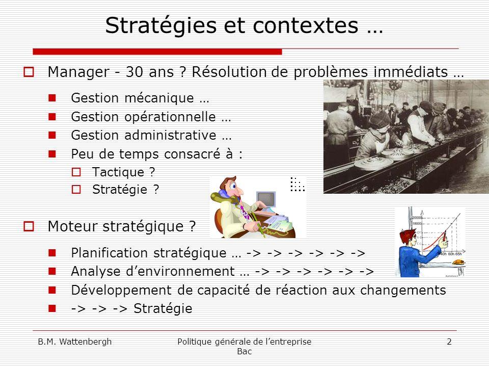 Stratégies et contextes …