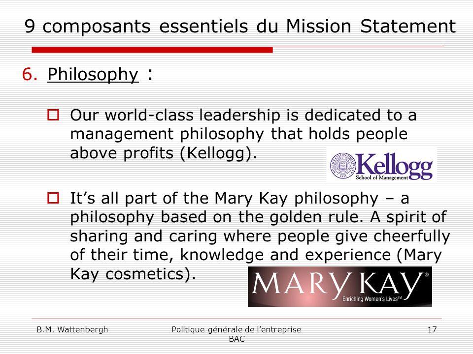 9 composants essentiels du Mission Statement