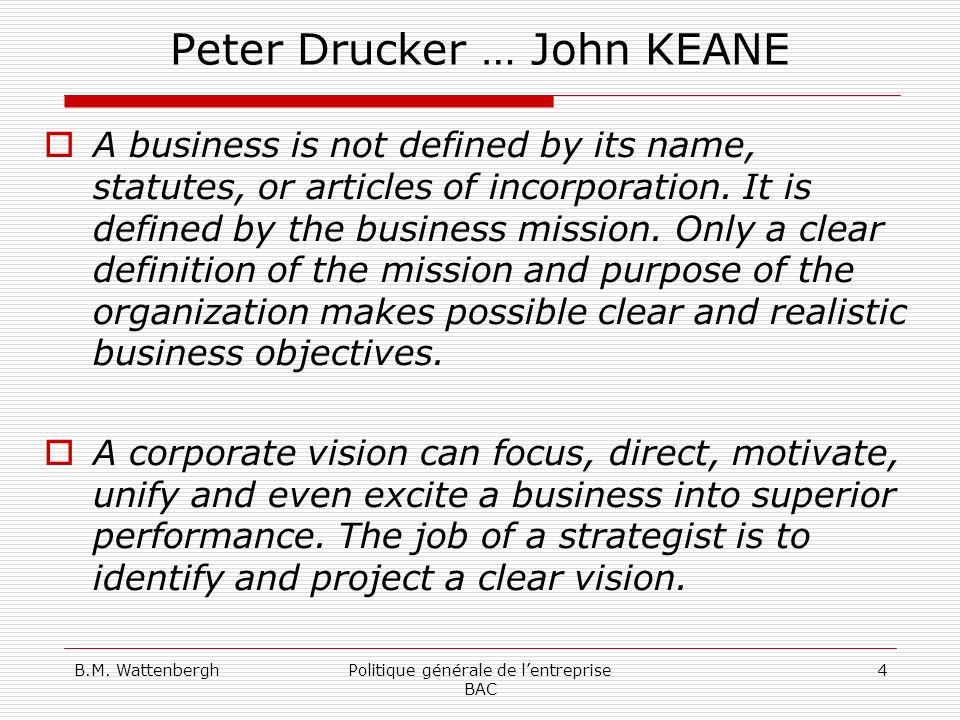 Peter Drucker … John KEANE