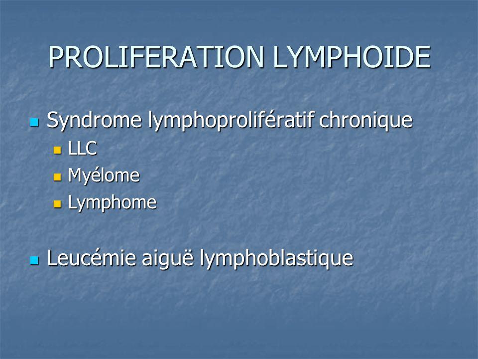 PROLIFERATION LYMPHOIDE