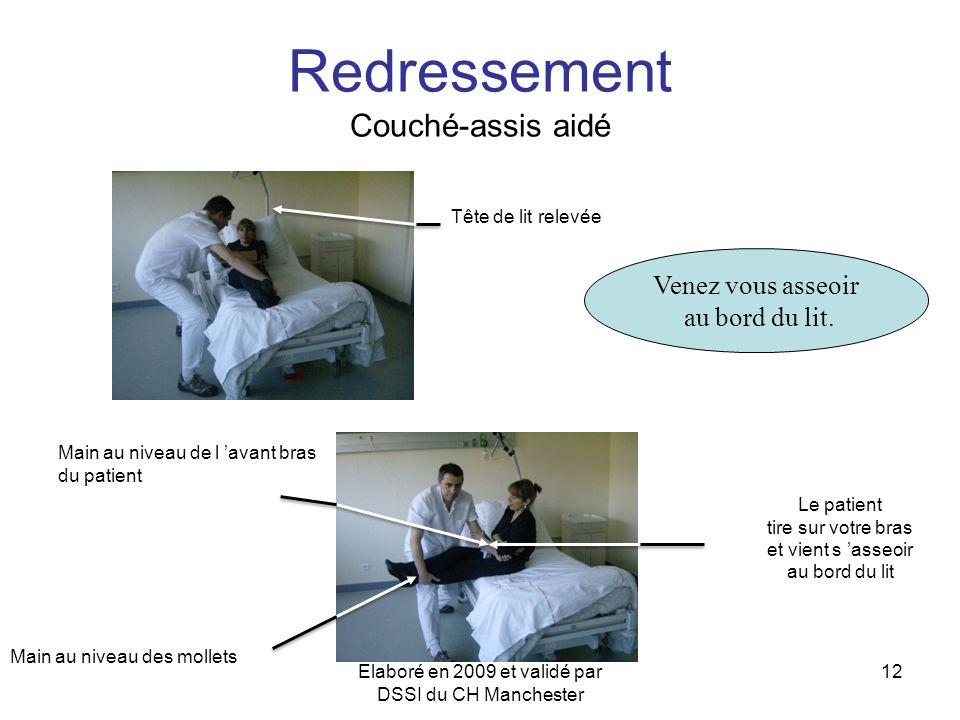 Redressement Couché-assis aidé
