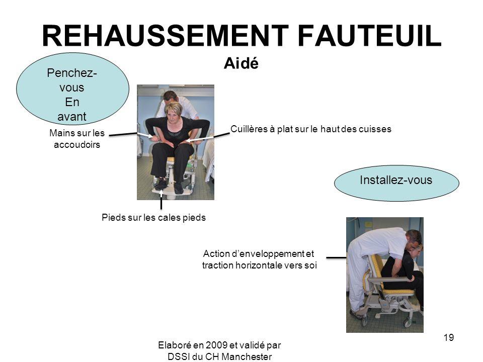 REHAUSSEMENT FAUTEUIL Aidé
