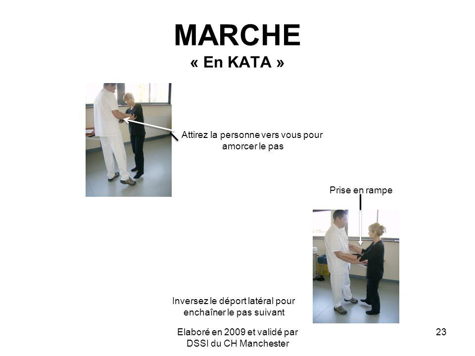 MARCHE « En KATA » Attirez la personne vers vous pour amorcer le pas