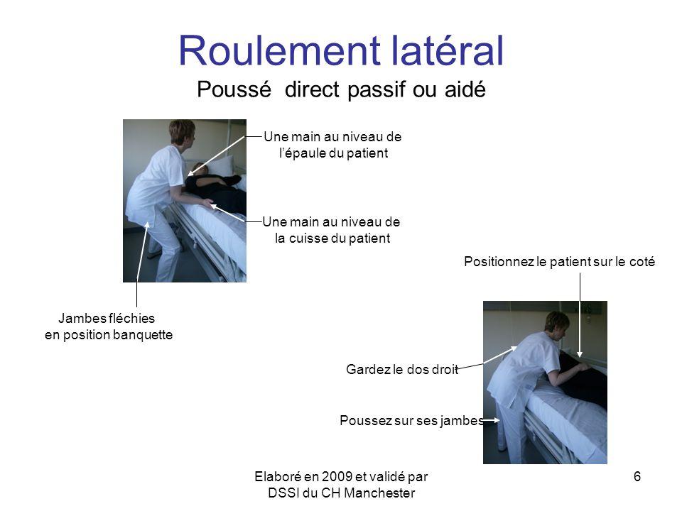 Roulement latéral Poussé direct passif ou aidé