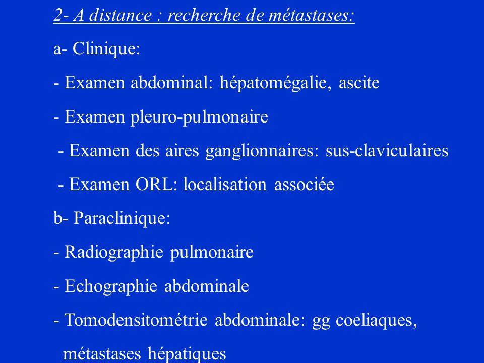 - Examen abdominal: hépatomégalie, ascite - Examen pleuro-pulmonaire