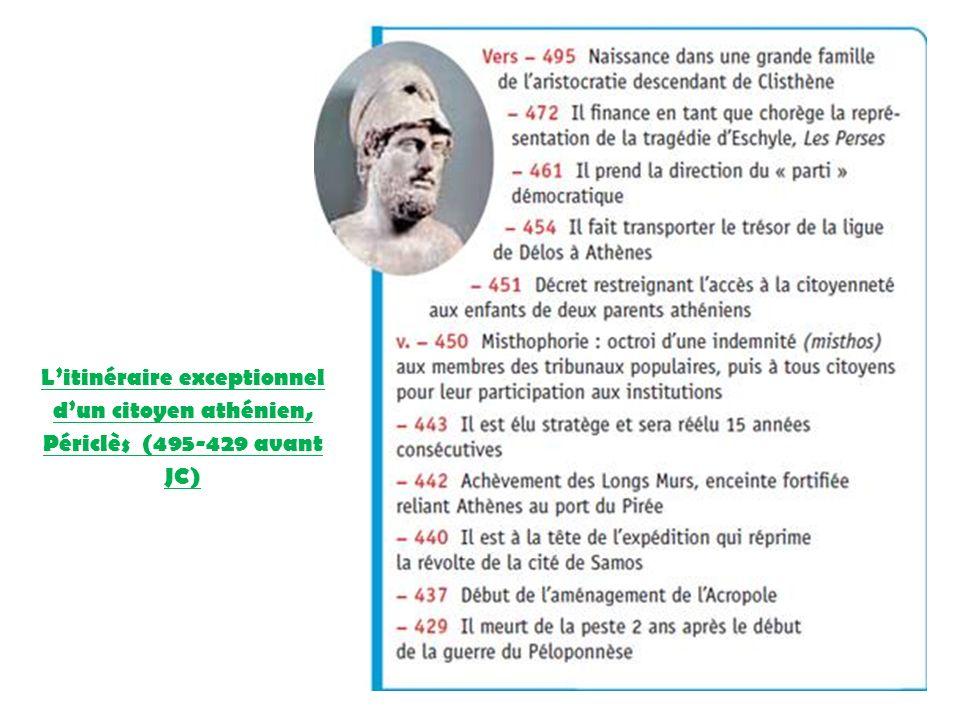 L'itinéraire exceptionnel d'un citoyen athénien, Périclès (495-429 avant JC)
