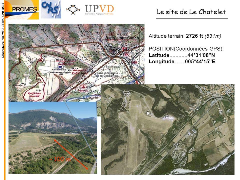Le site de Le Chatelet ~ 100 m Altitude terrain: 2726 ft (831m)