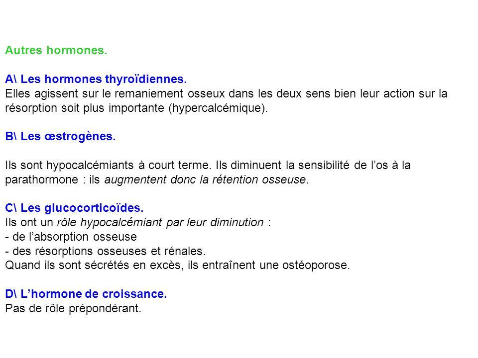 Autres hormones. A\ Les hormones thyroïdiennes.