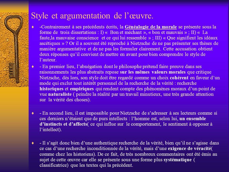 Style et argumentation de l'œuvre.
