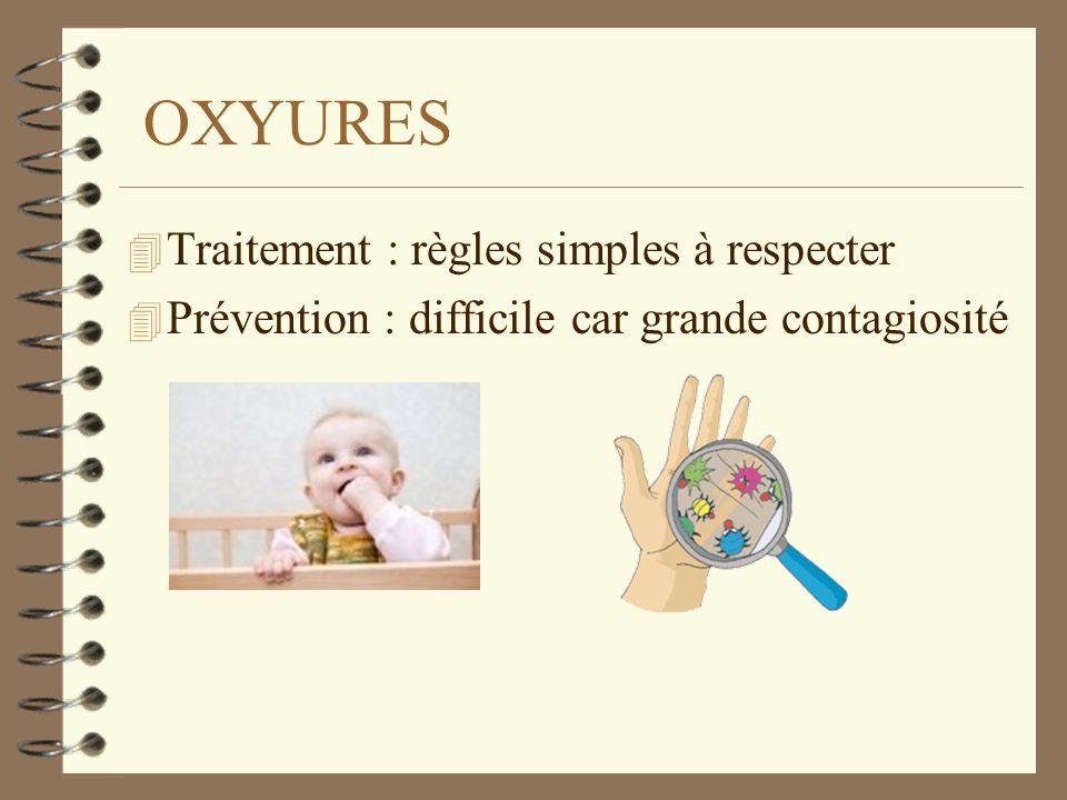 OXYURES Traitement : règles simples à respecter