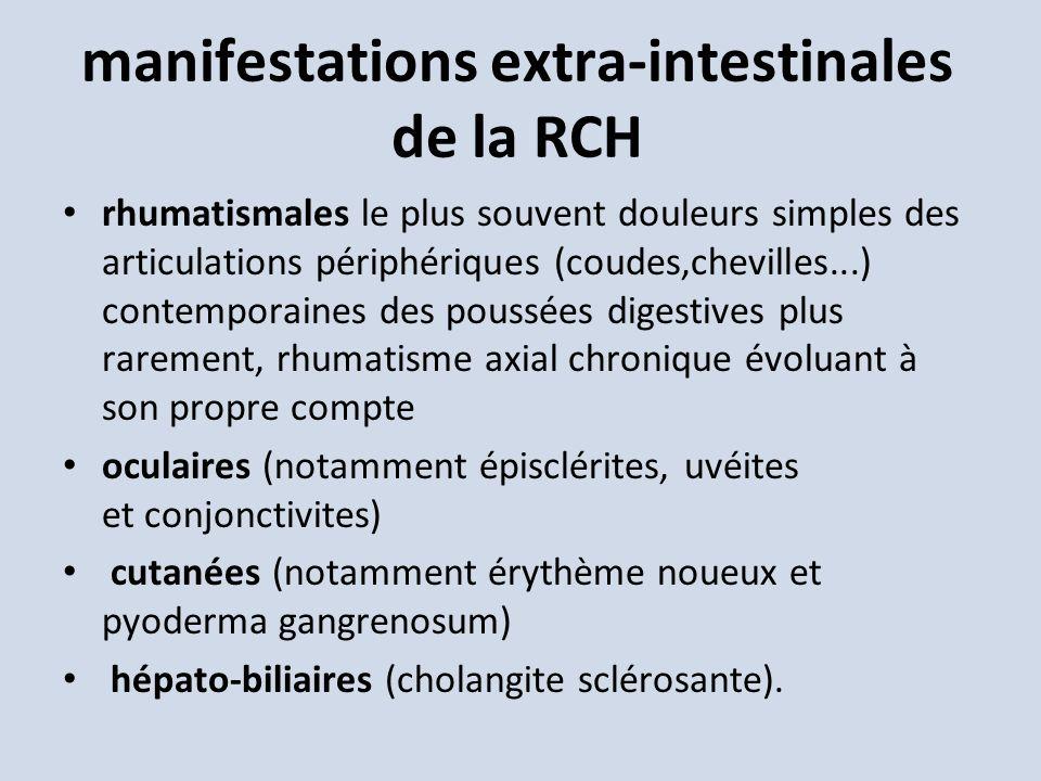 manifestations extra-intestinales de la RCH