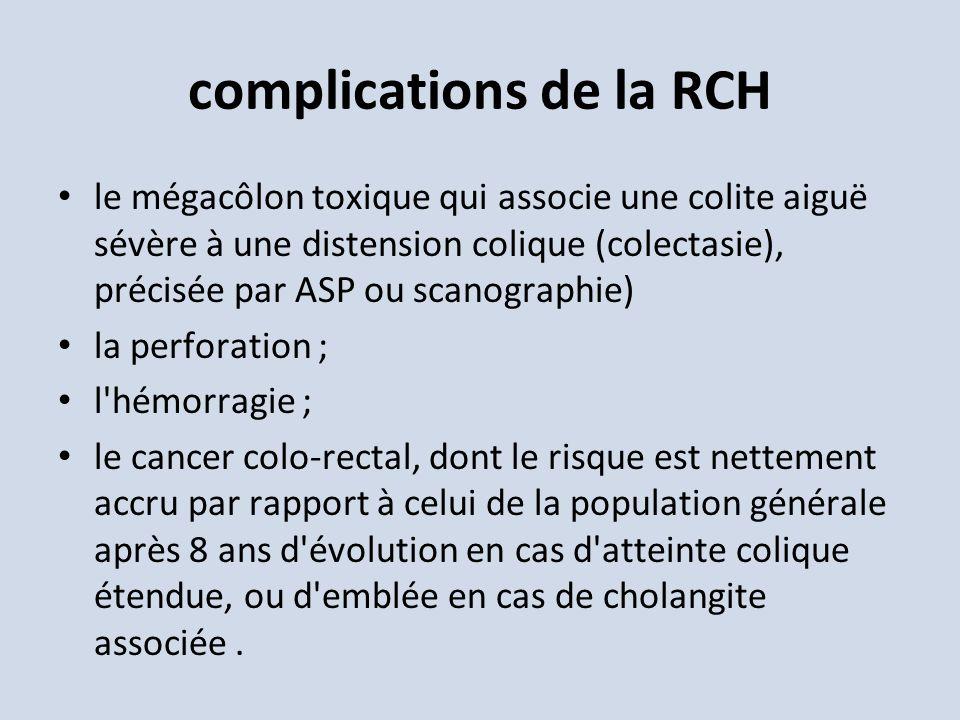 complications de la RCH