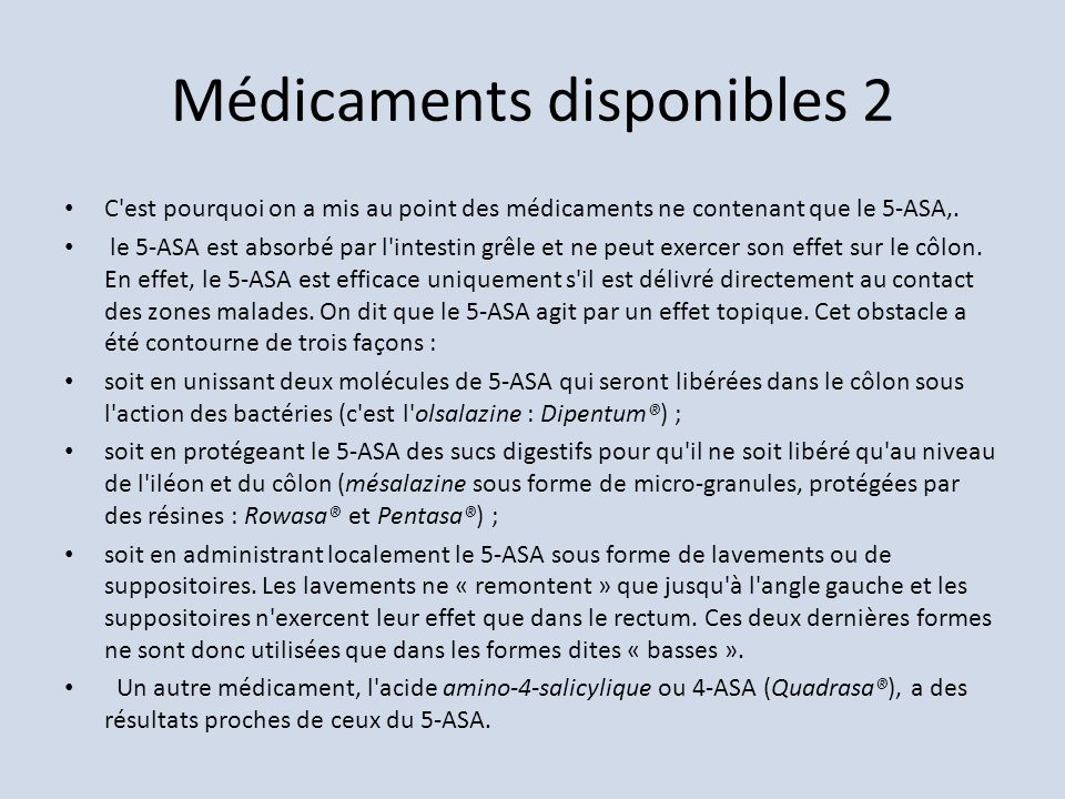 Médicaments disponibles 2