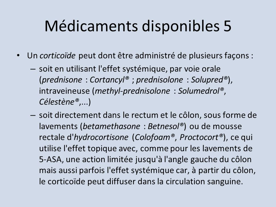 Médicaments disponibles 5