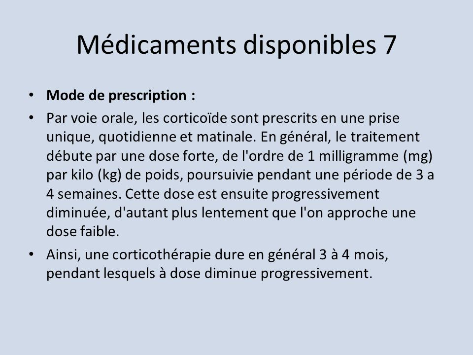 Médicaments disponibles 7
