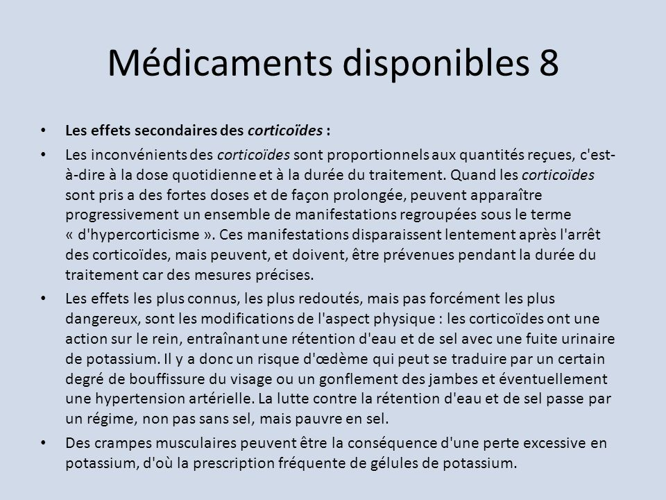 Médicaments disponibles 8