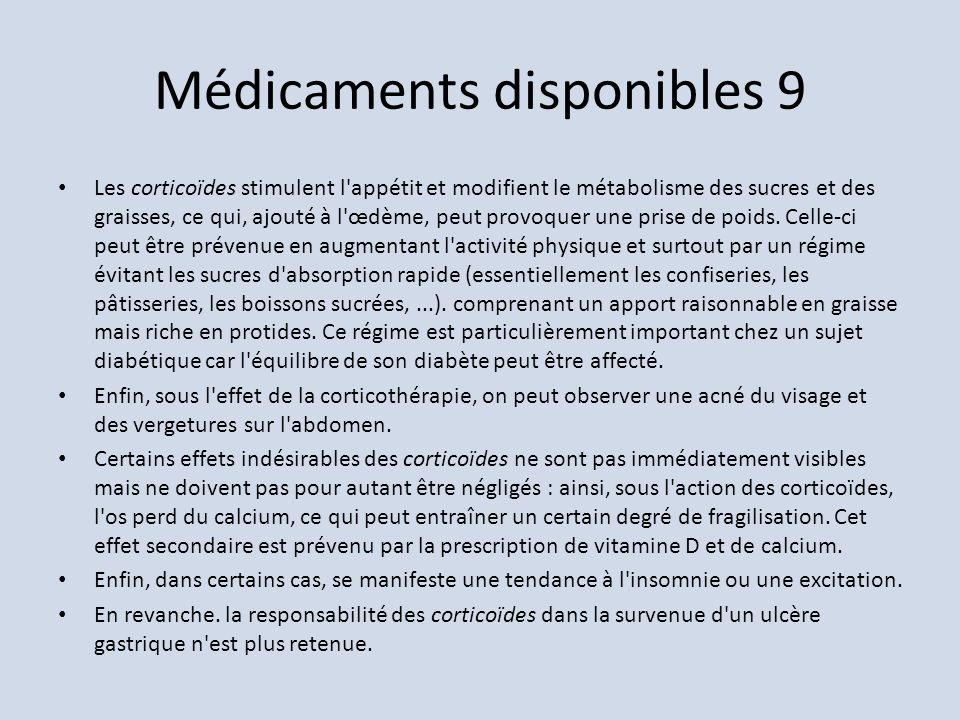 Médicaments disponibles 9