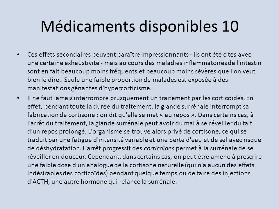 Médicaments disponibles 10