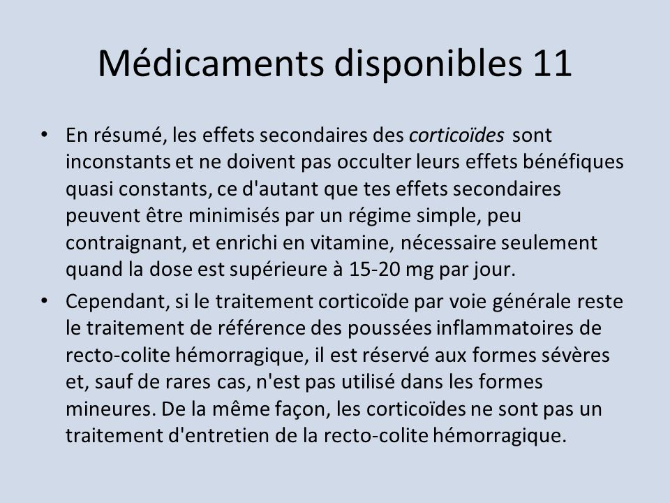 Médicaments disponibles 11