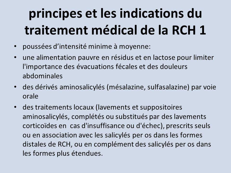 principes et les indications du traitement médical de la RCH 1