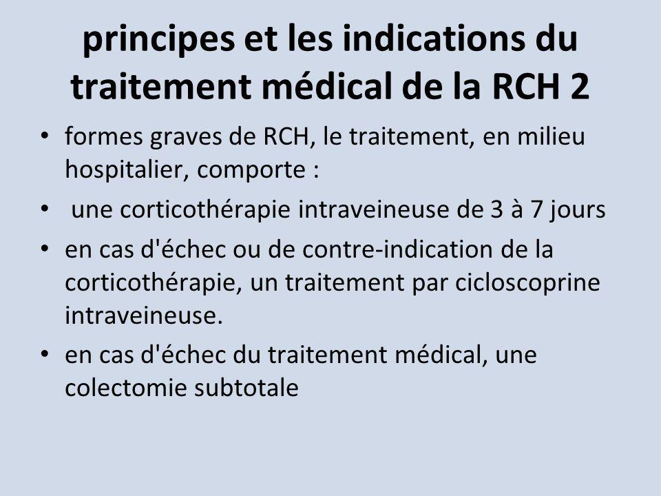 principes et les indications du traitement médical de la RCH 2