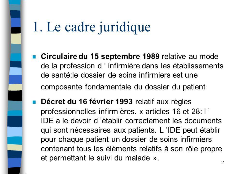 1. Le cadre juridique