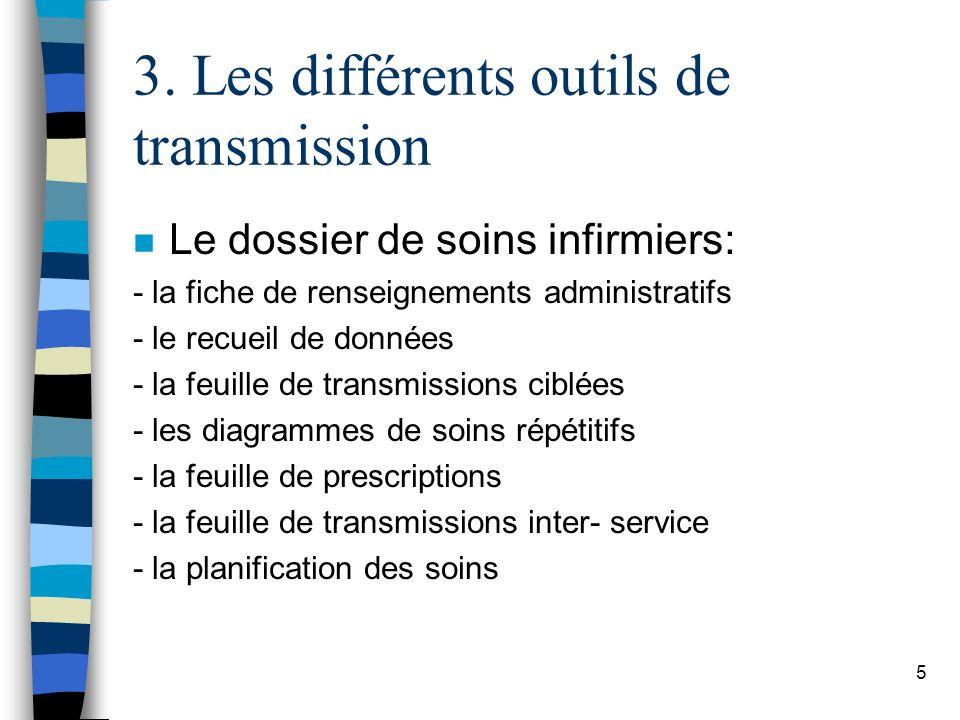 3. Les différents outils de transmission