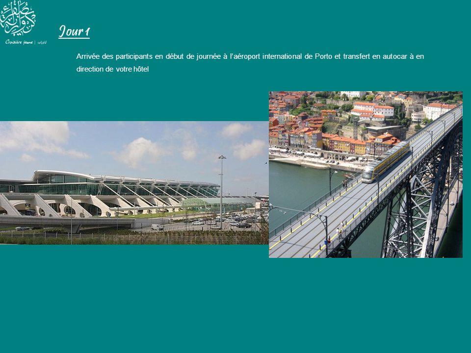 Jour 1 Arrivée des participants en début de journée à l'aéroport international de Porto et transfert en autocar à en direction de votre hôtel.
